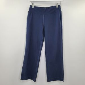 Lucy Dark Blue Cropped Pants Workout Yoga Active